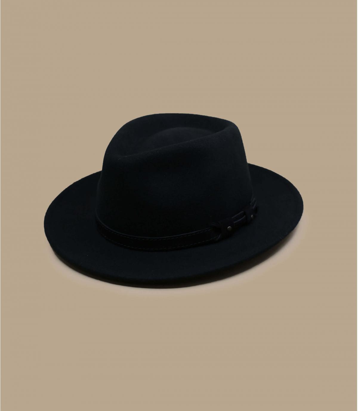 chapeau feutre noir