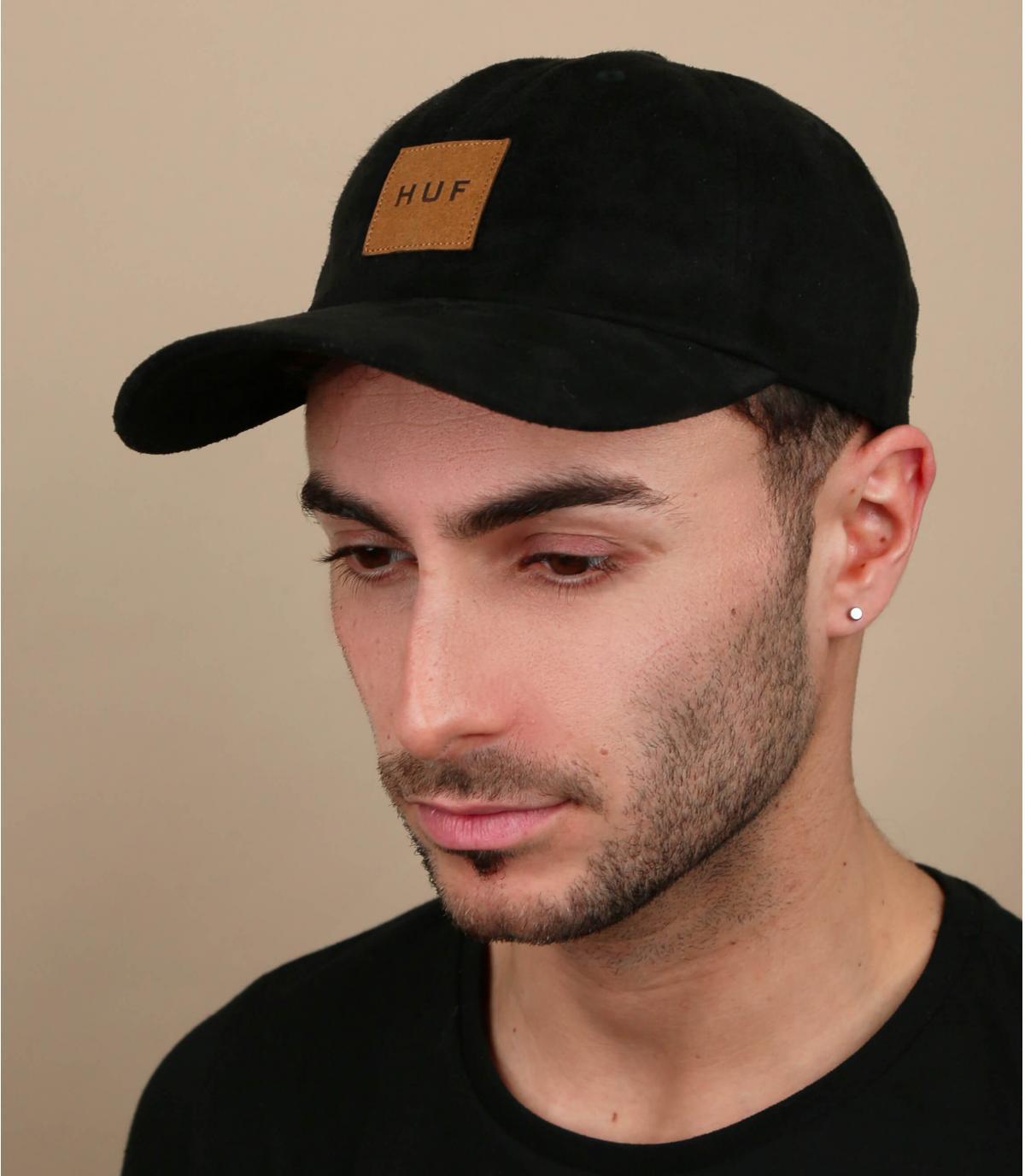 casquette Huf noir suede