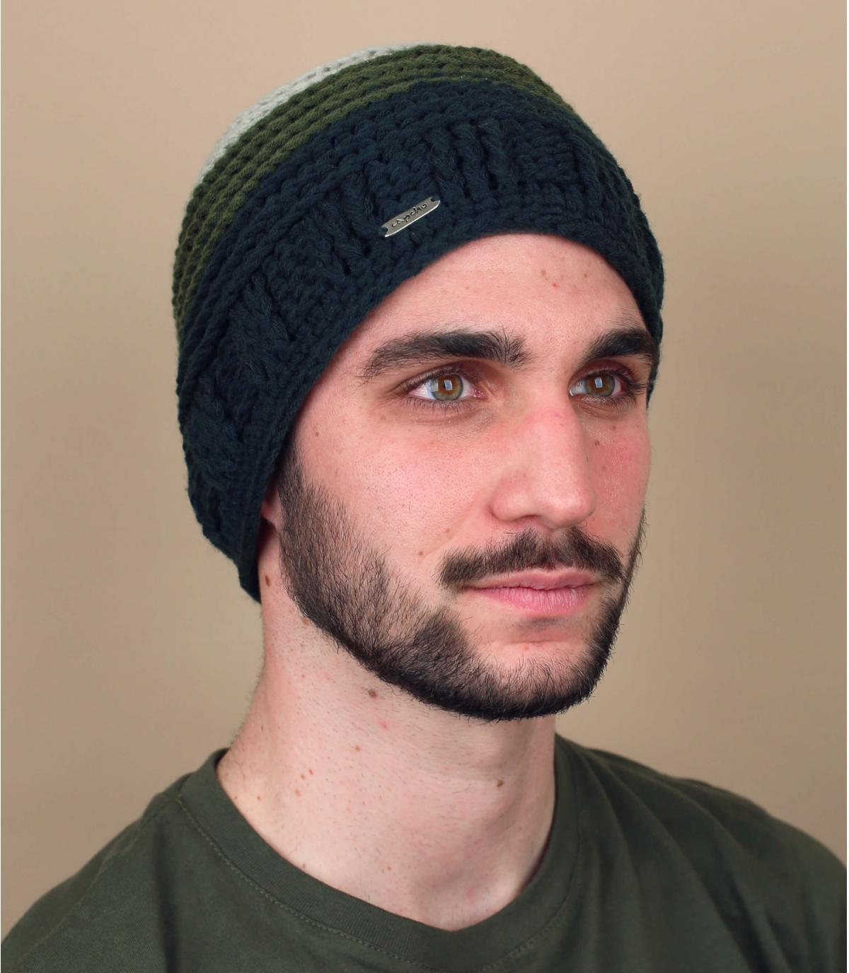 bonnet dégradé vert