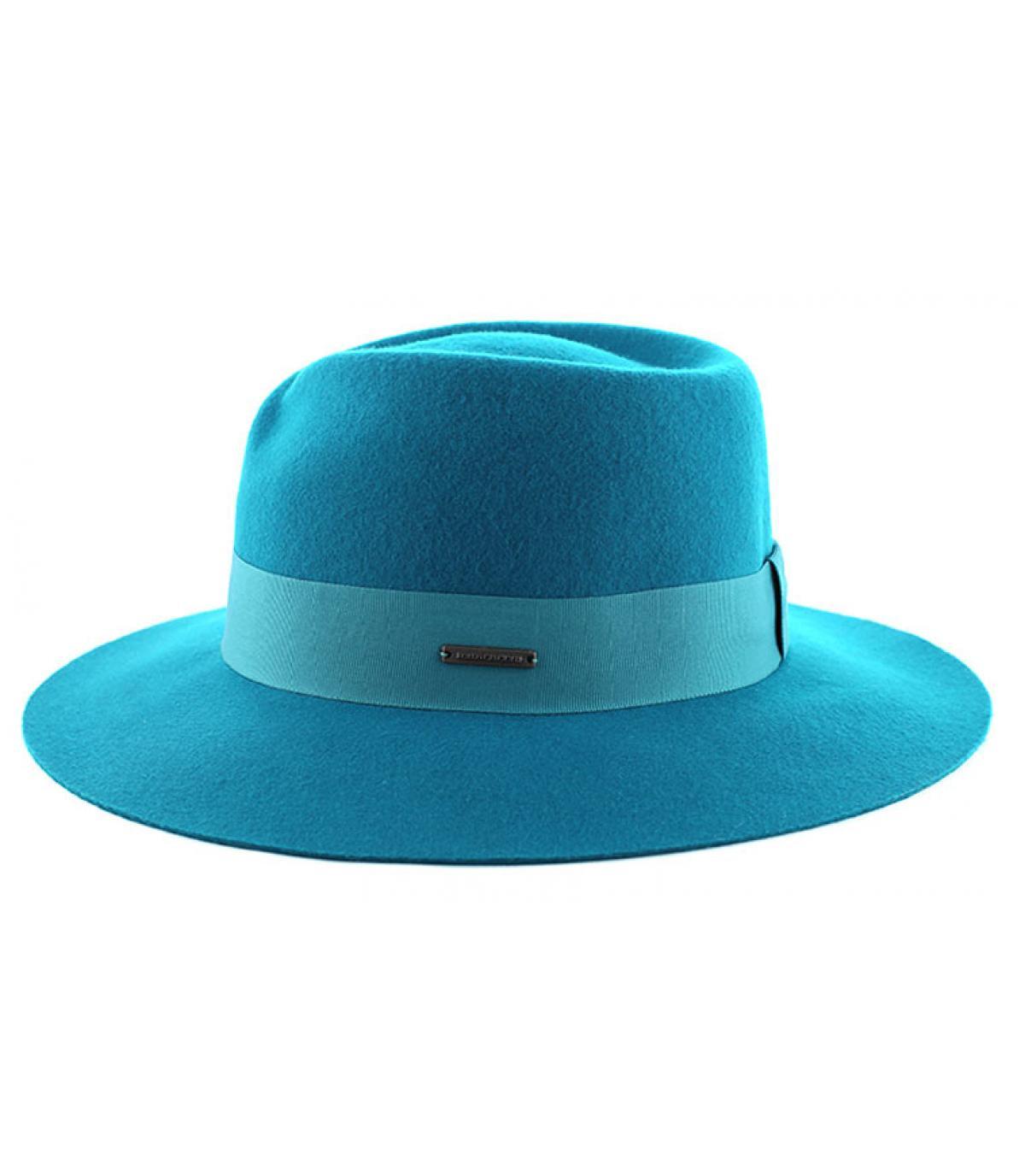Chapeau femme fedora bleu