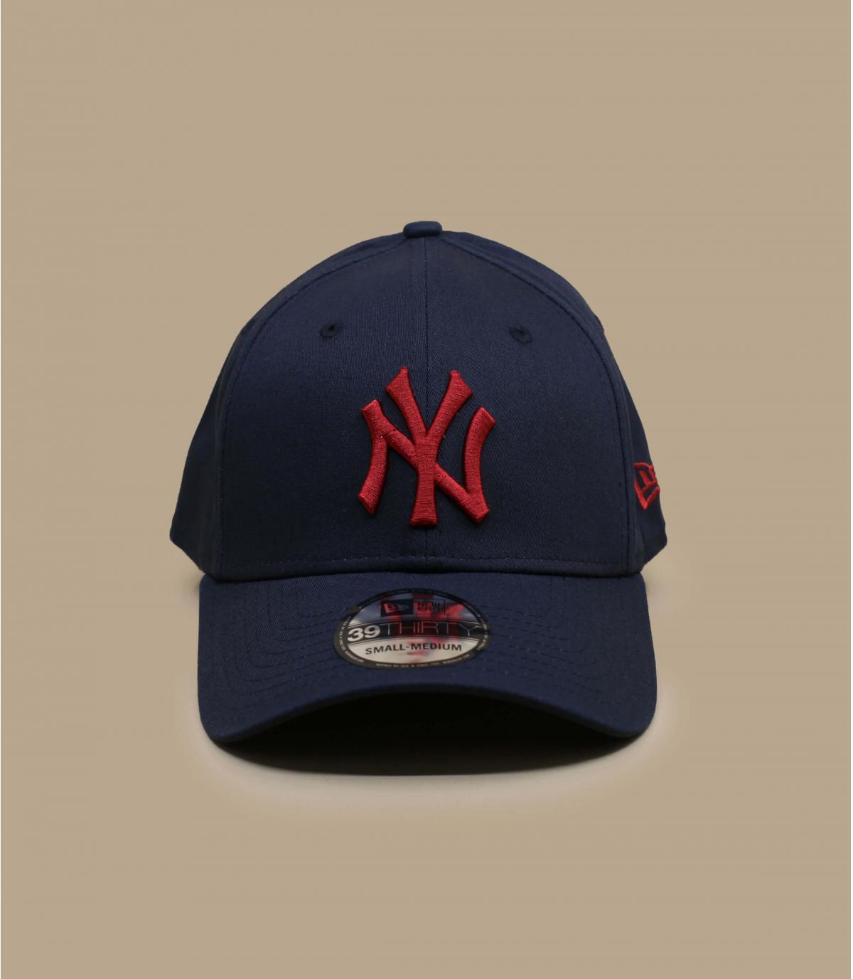casquette NY bleu rouge