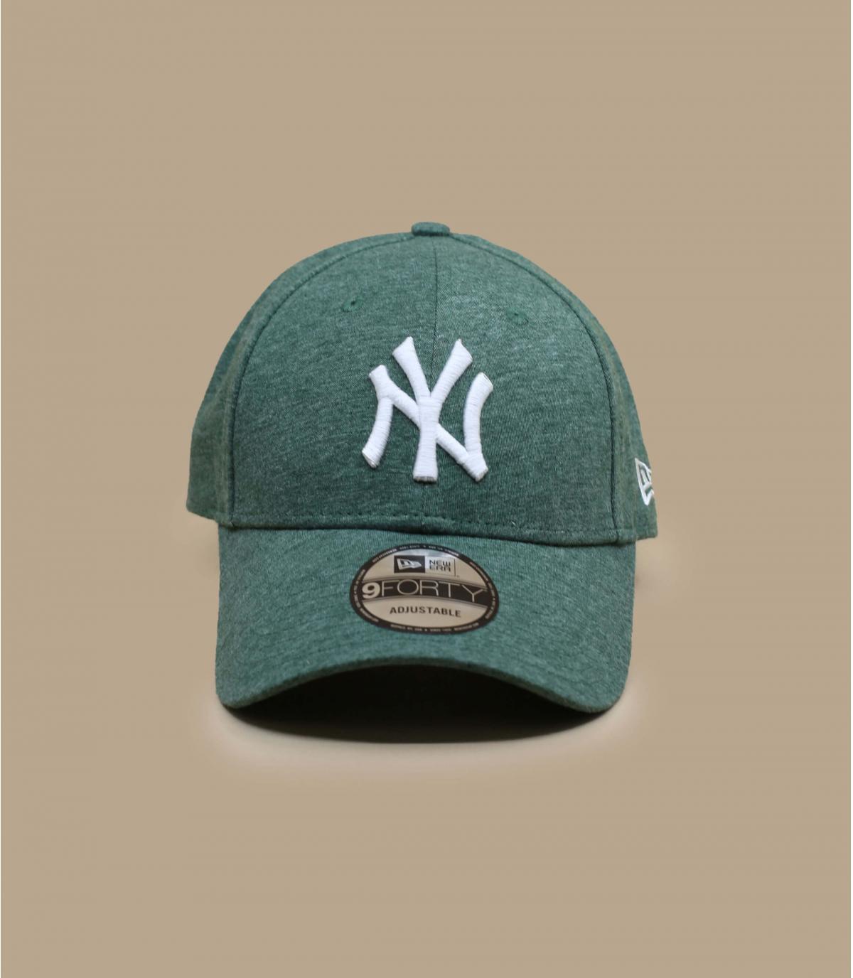 casquette NY vert blanc