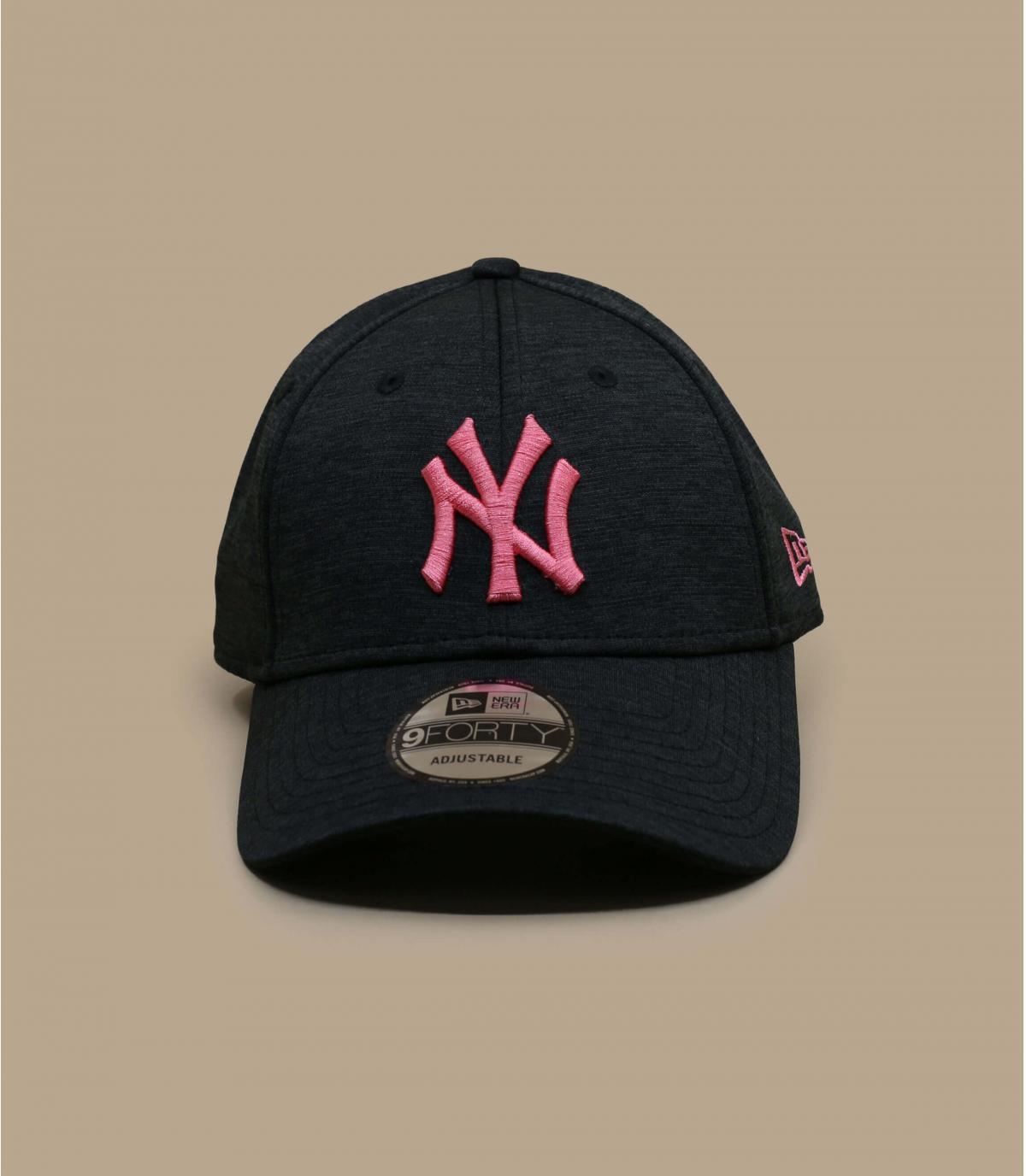 casquette NY noir rose