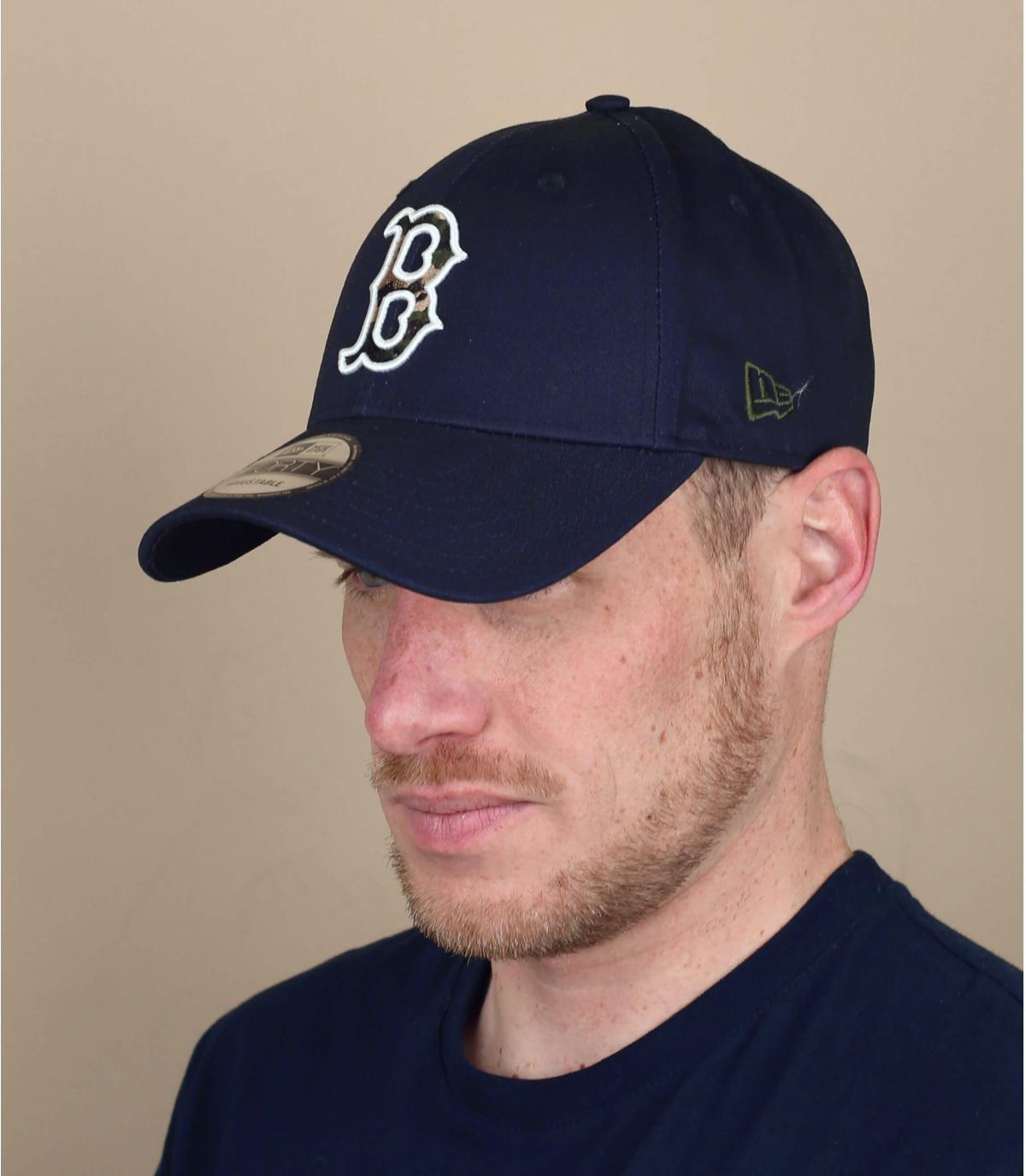 casquette Boston bleu camo