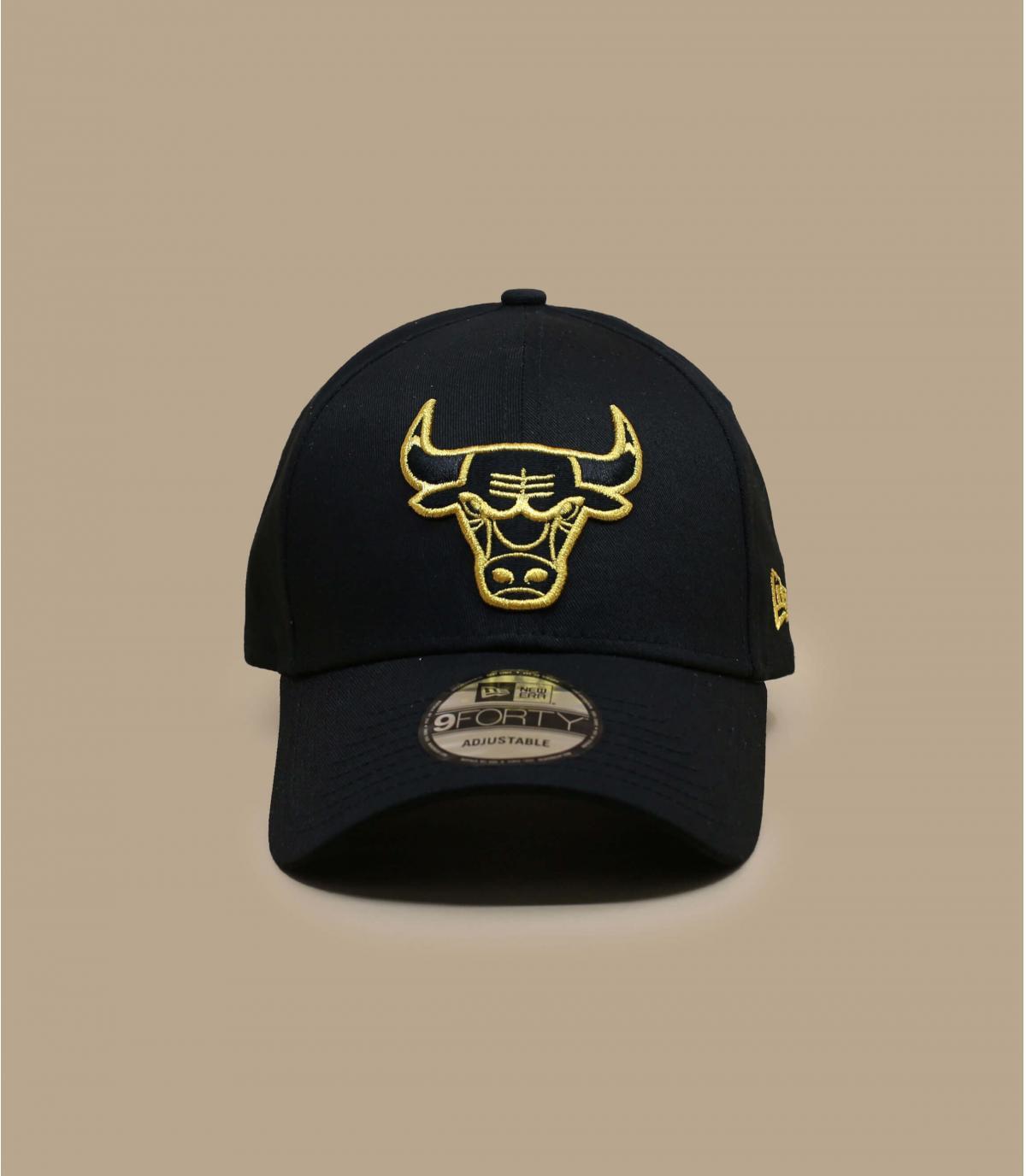 casquette Bulls noir or