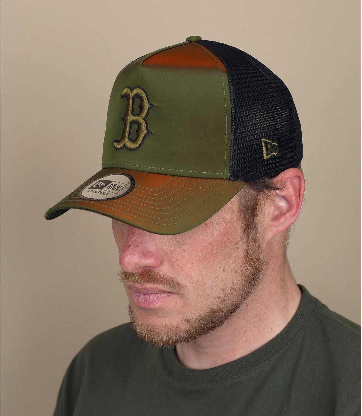 trucker B vert reflet