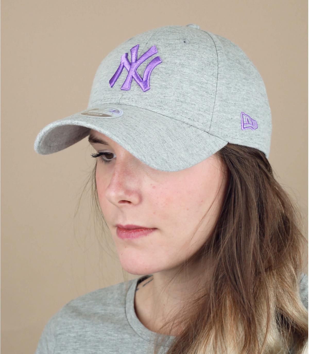 casquette NY femme gris
