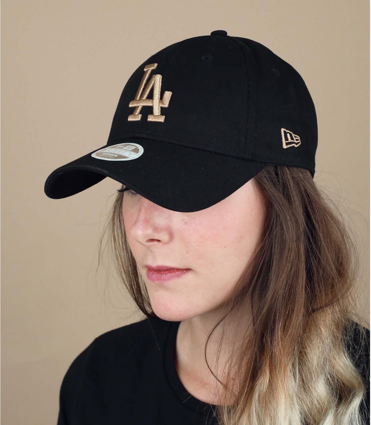 casquette LA femme noir