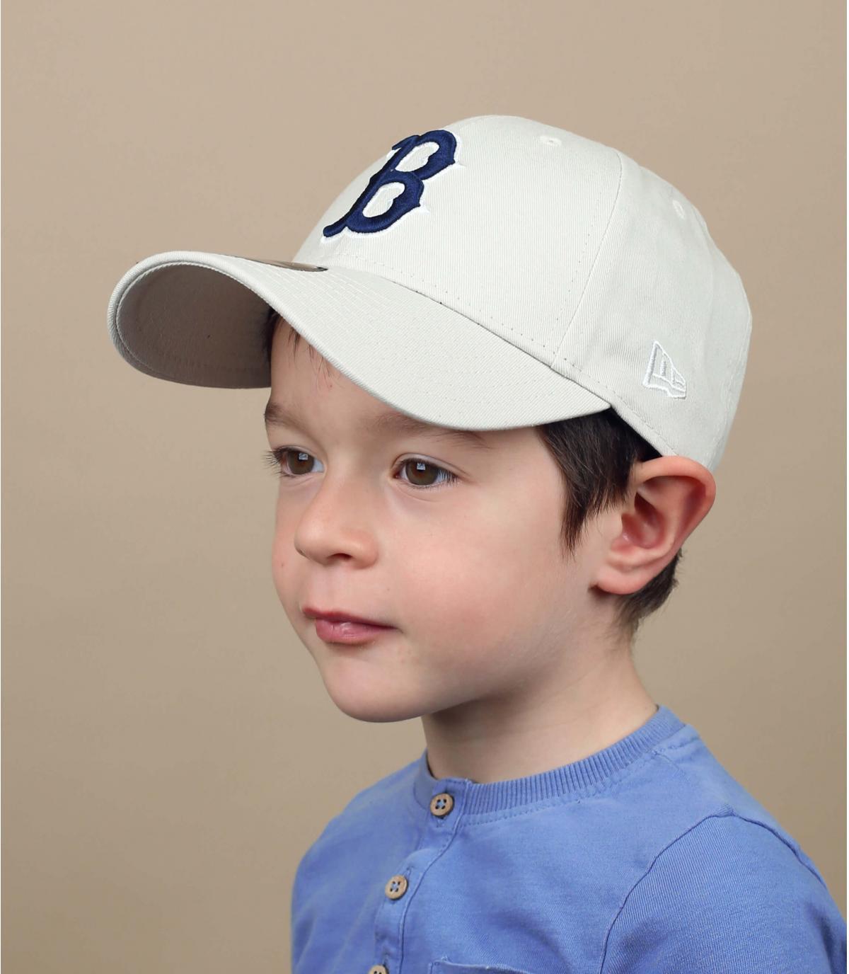 casquette B enfant beige