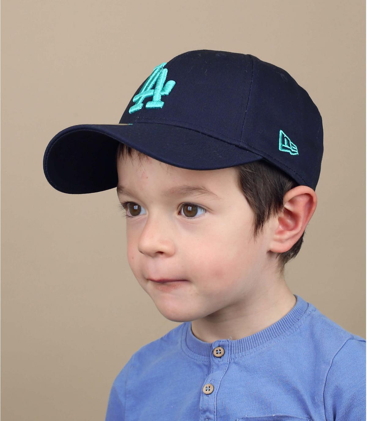 casquette LA enfant bleu