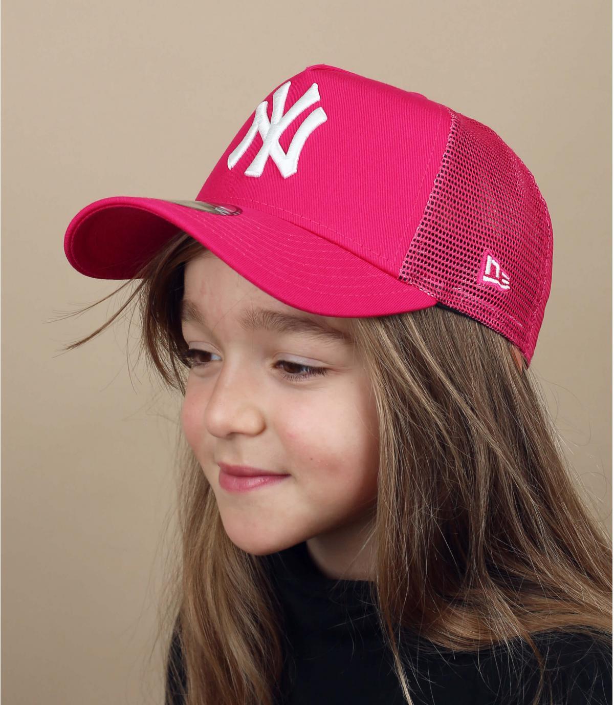 trucker enfant NY rose