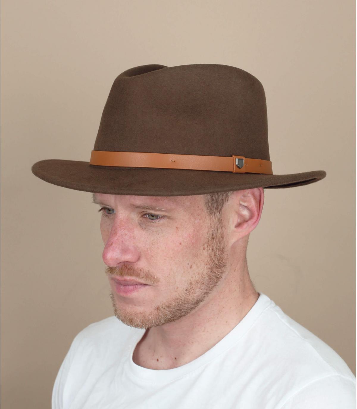 chapeau feutre brun Brixton