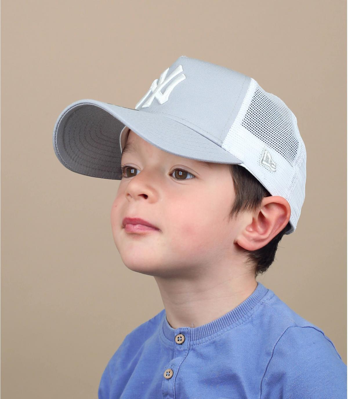 trucker enfant NY gris
