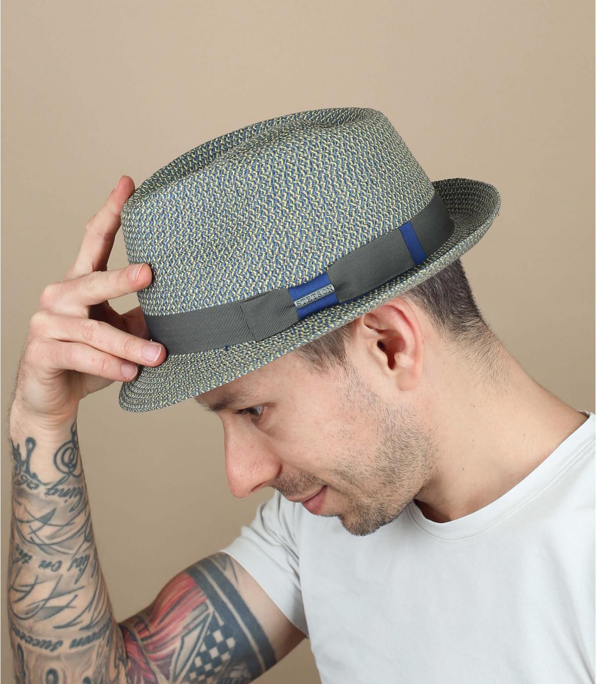 chapeau Stetson bleu gris