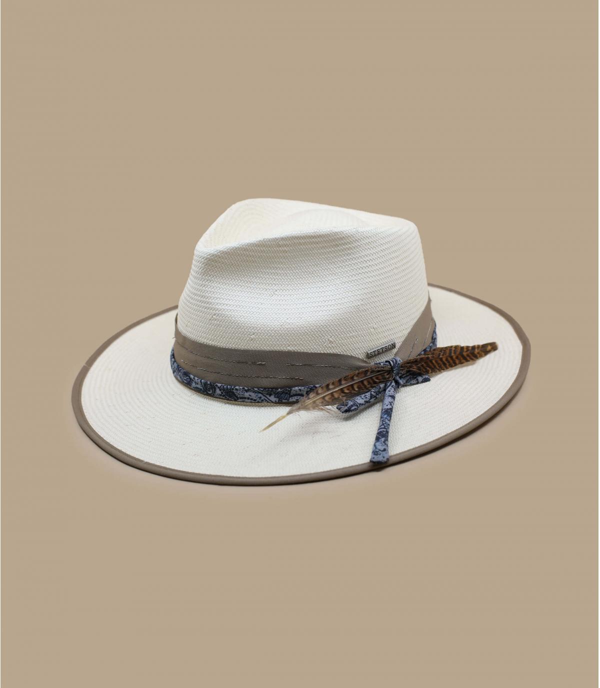 chapeau paille Stetson blanc