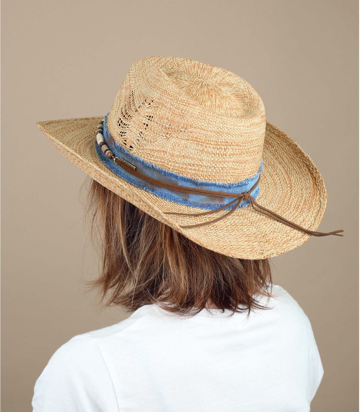 chapeau cow-boy perles