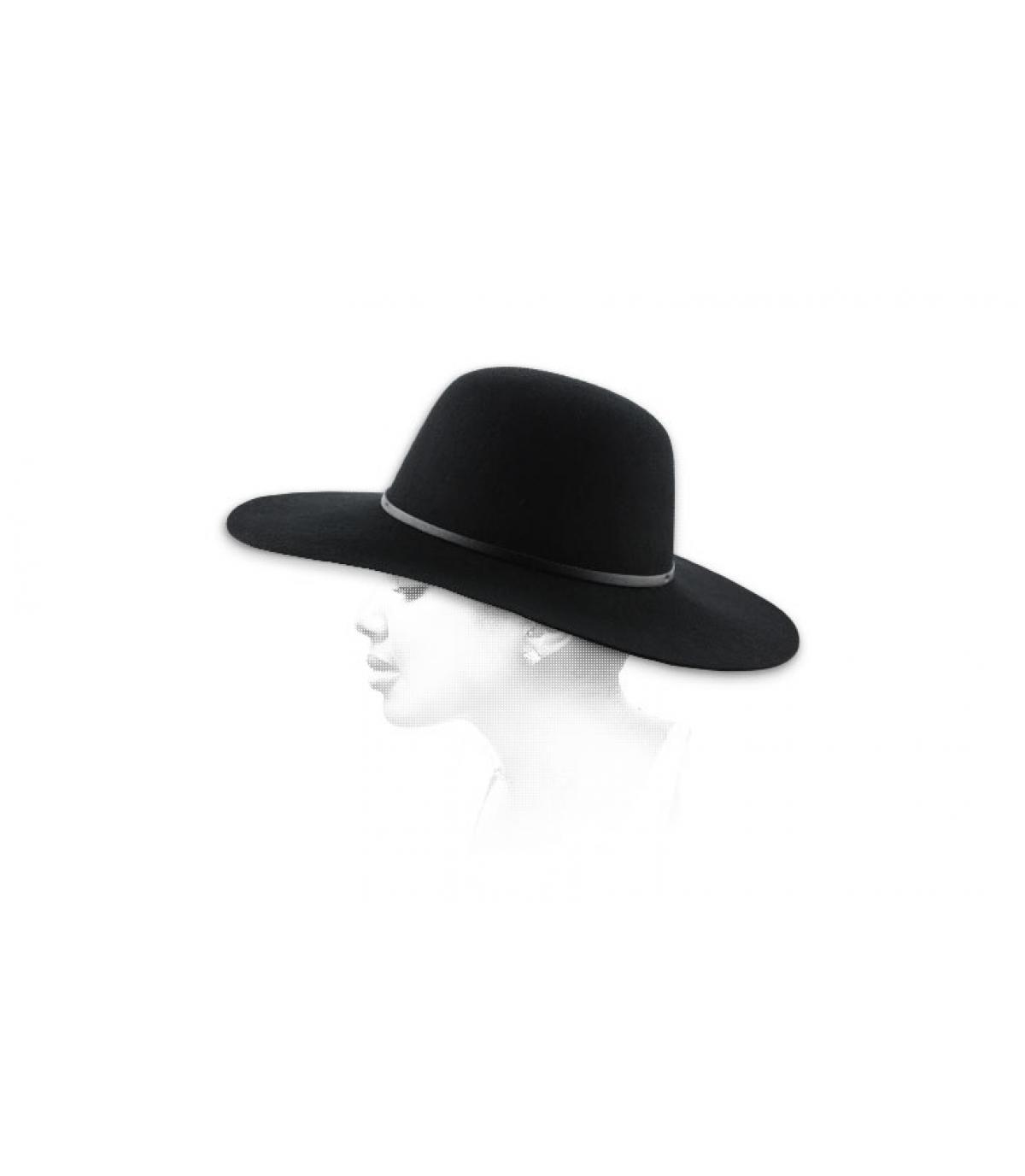 Chapeau femme noir