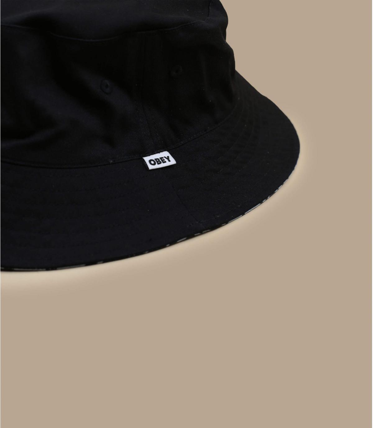 Détails Bandana Bucket Reversible navy black - image 3