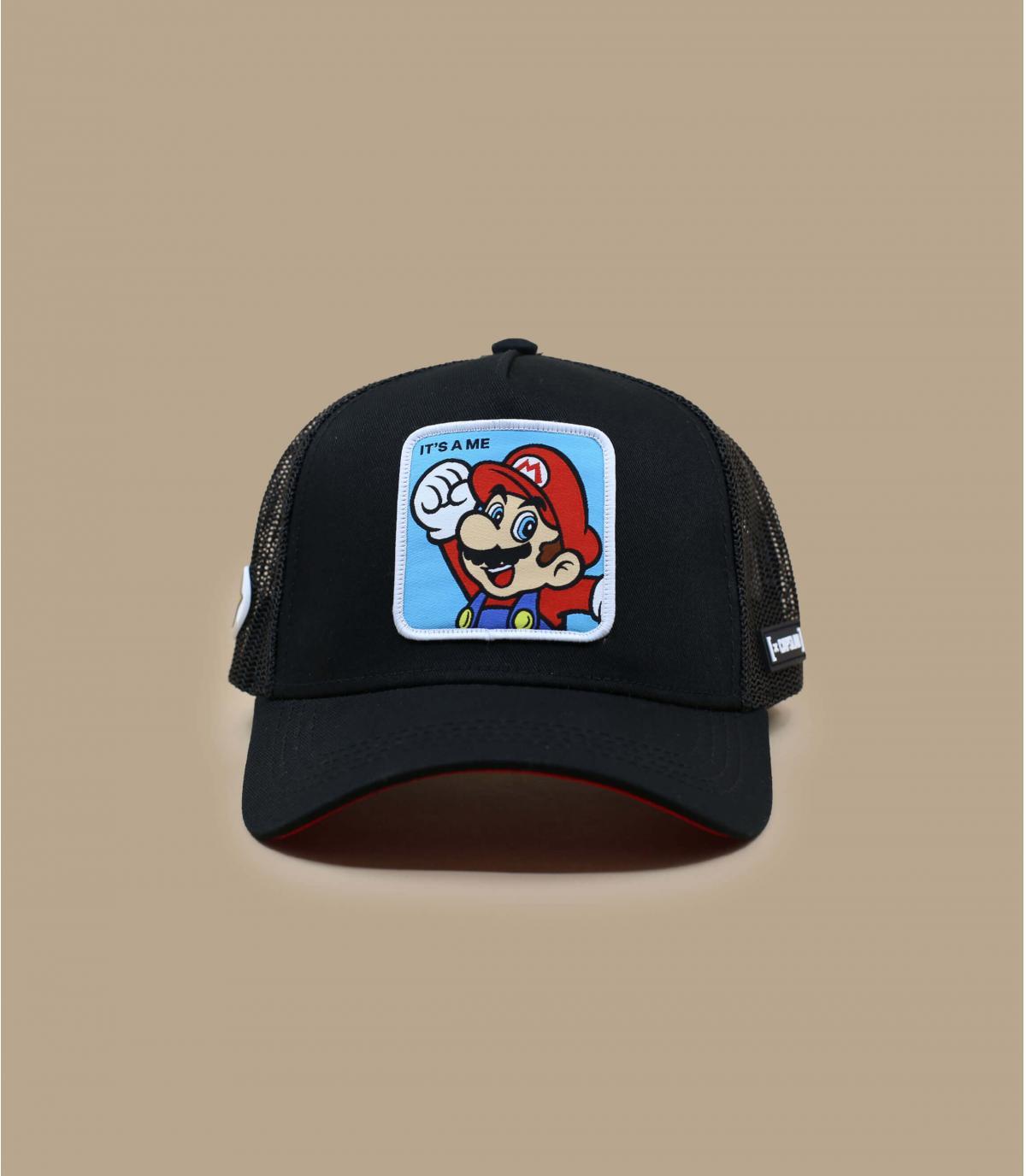 trucker Mario noir rouge
