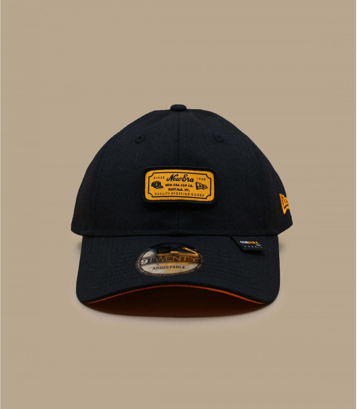 casquette new era noir orange