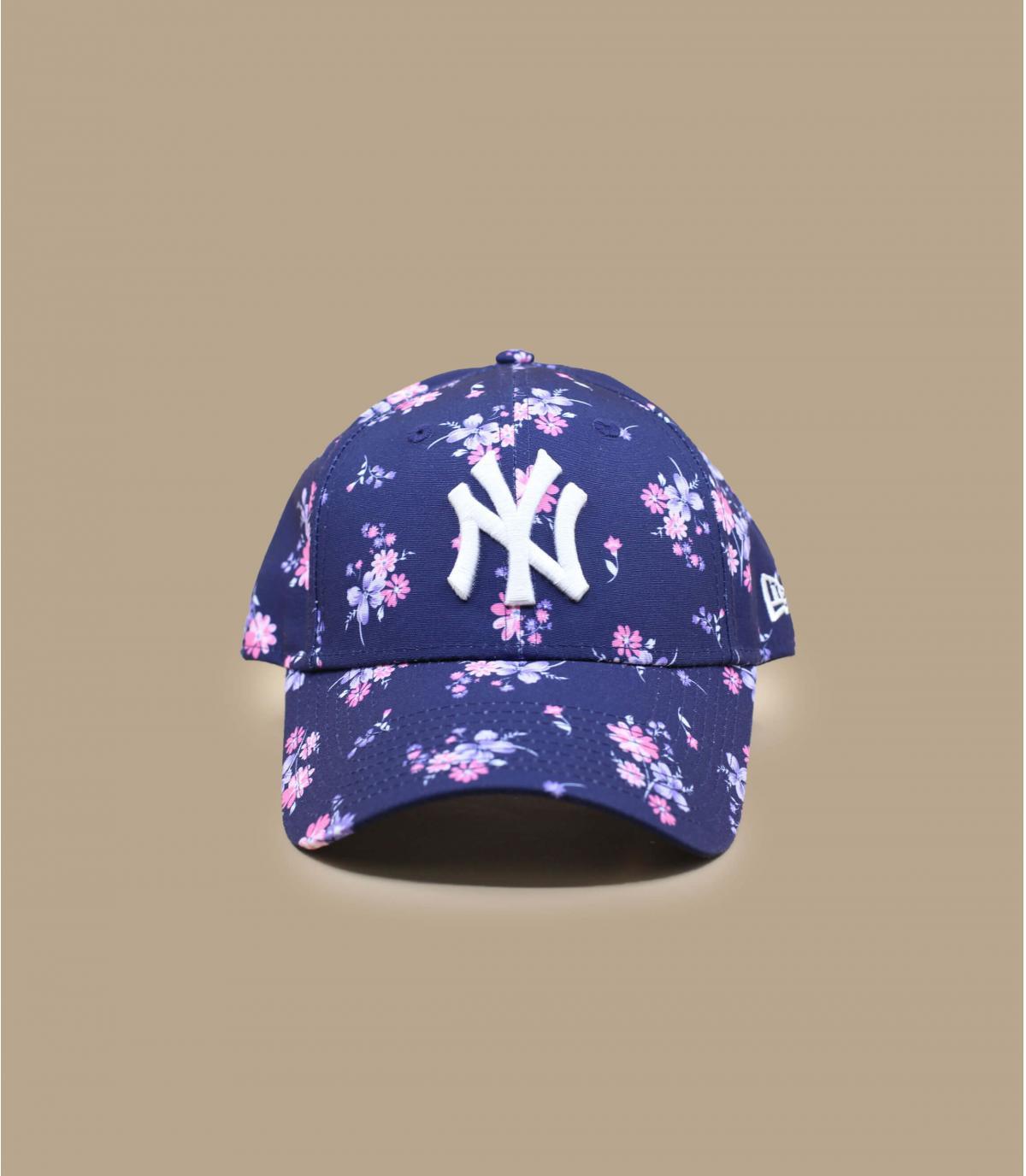 casquette NY femme fleurs