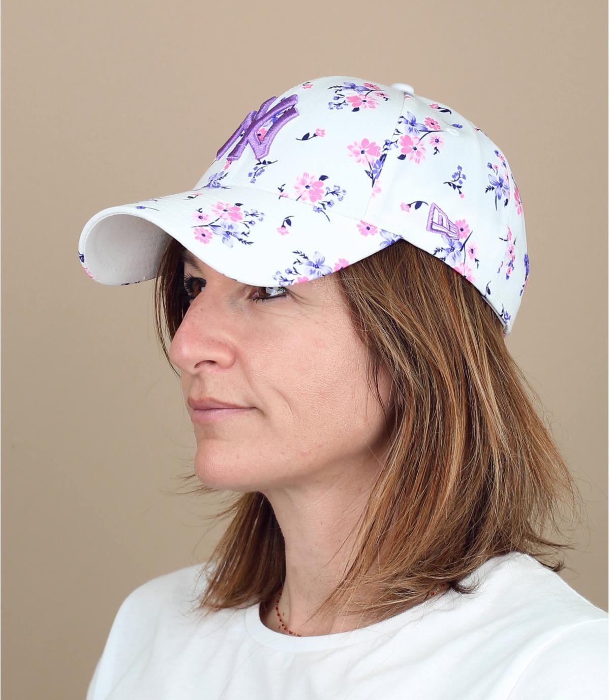 casquette femme NY imprimé