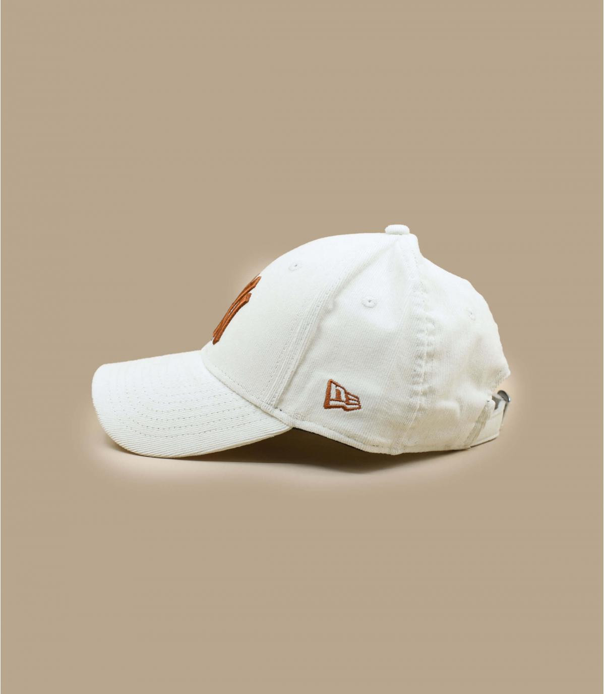Détails Casquette Wmn Cord NY 940 offwhite toffee - image 3