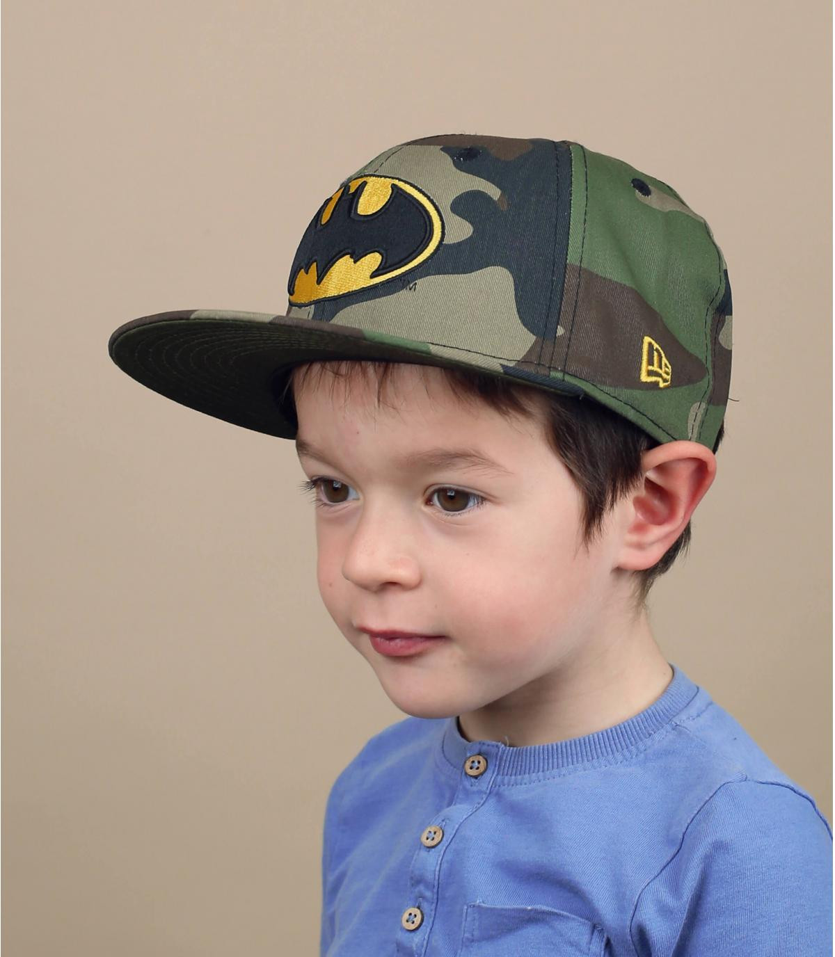 snapback enfant Batman camo