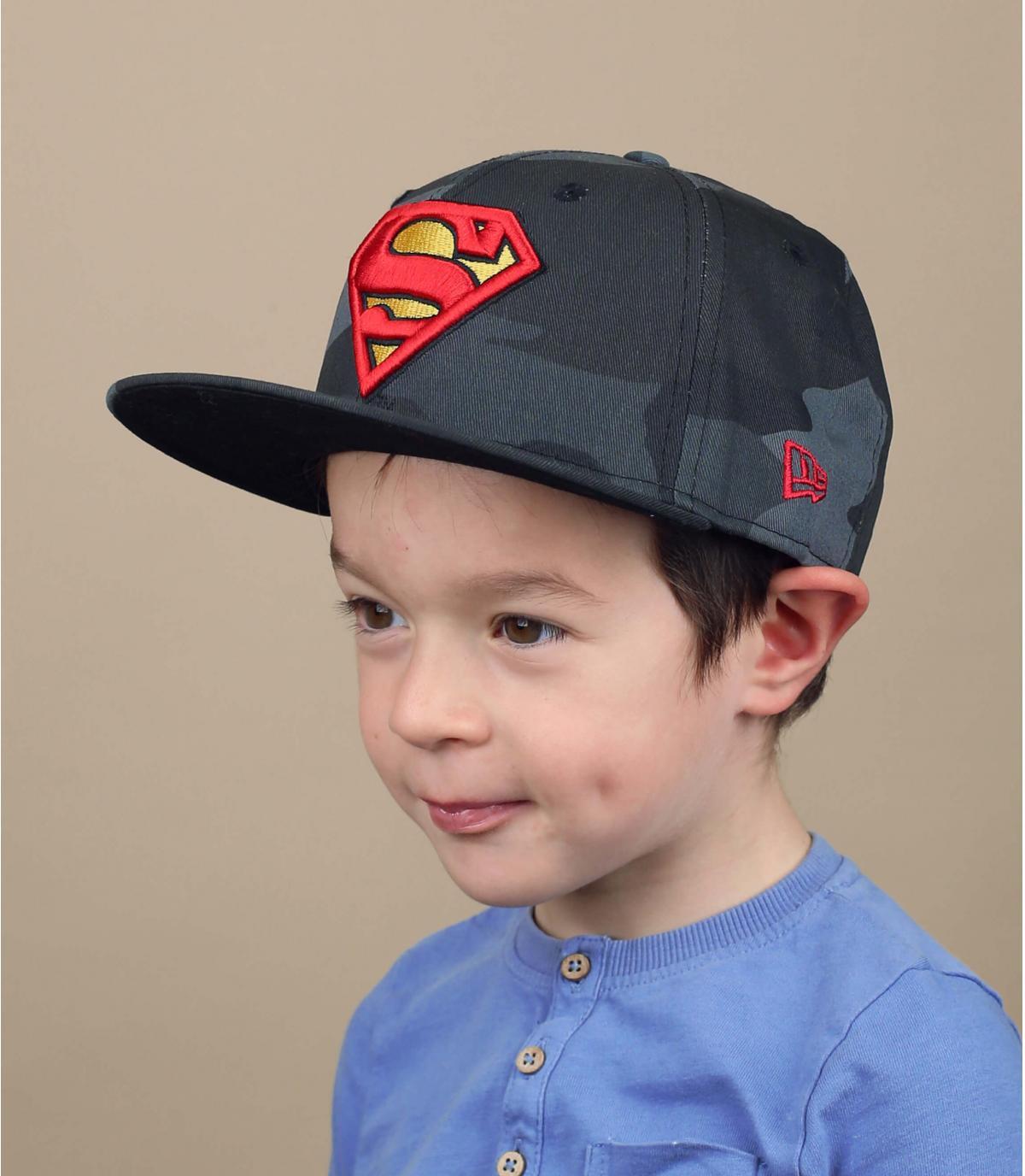 casquette enfant Superman camo
