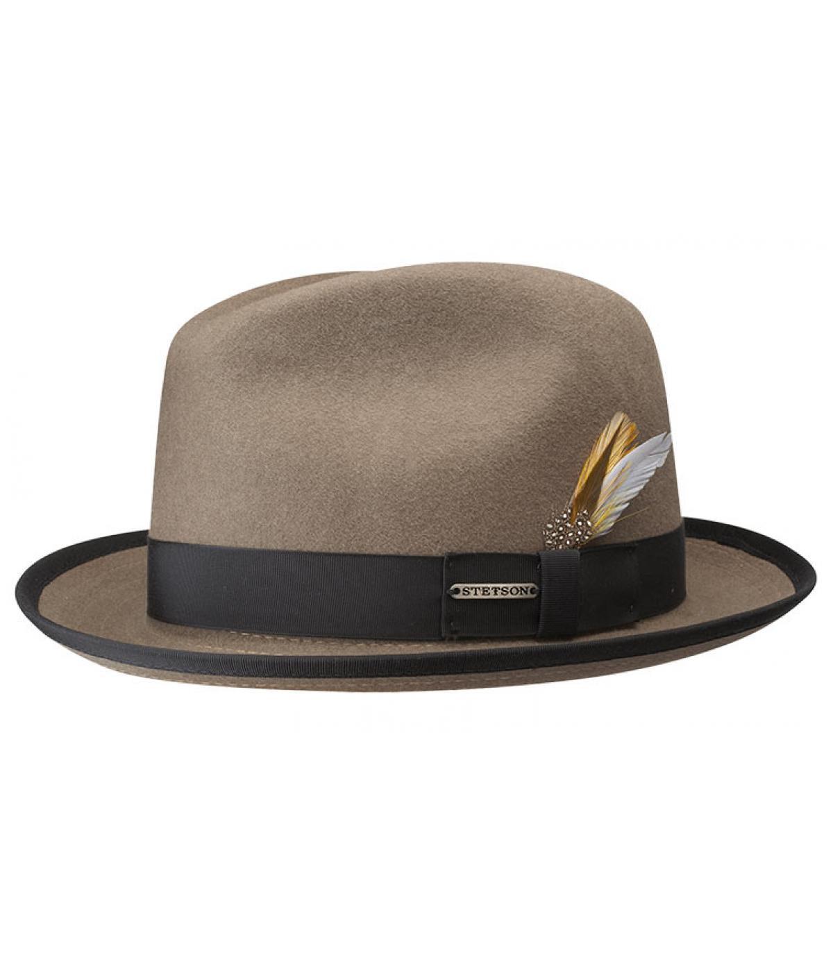 Chapeau homme marron