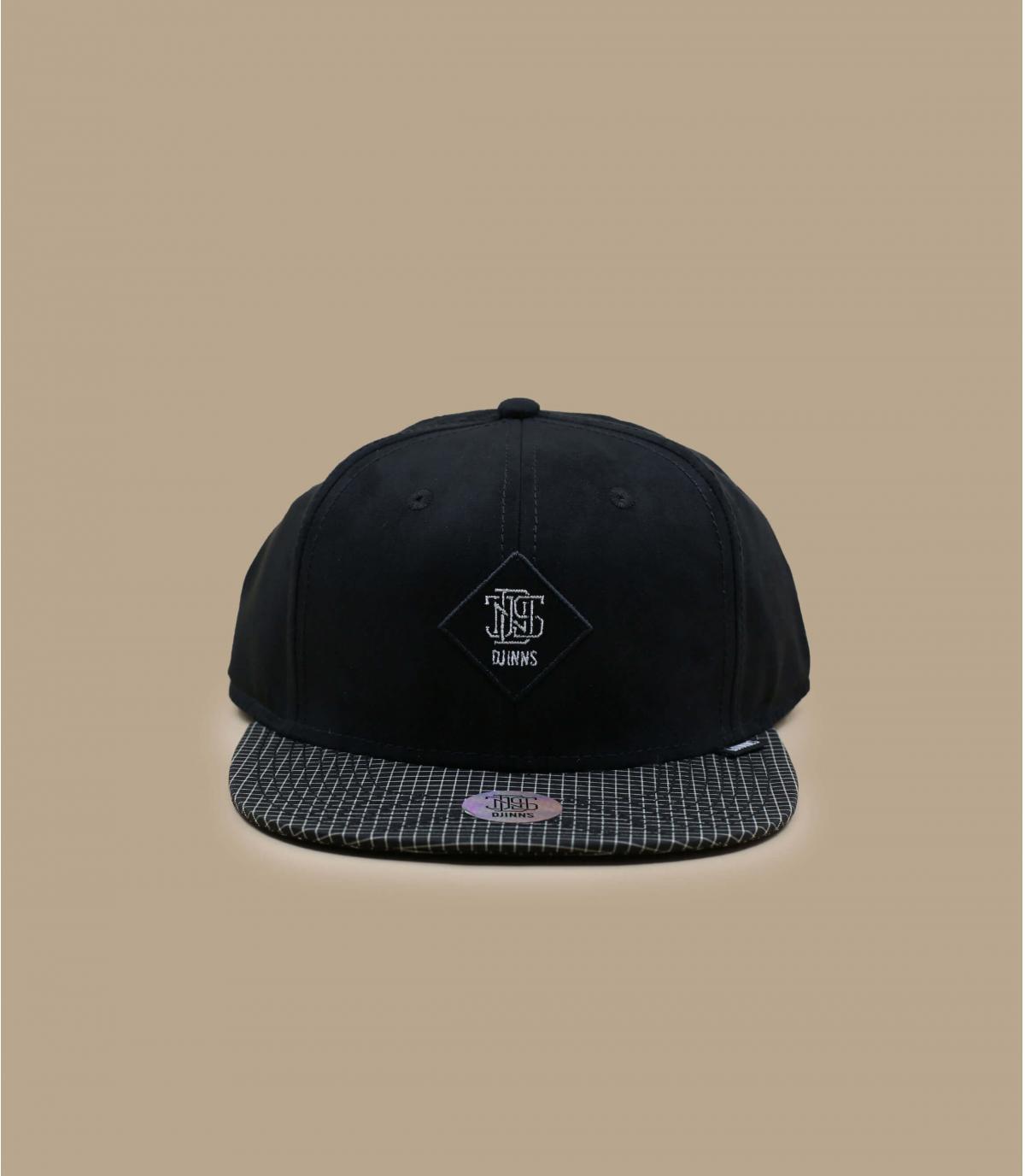 snapback noir velours