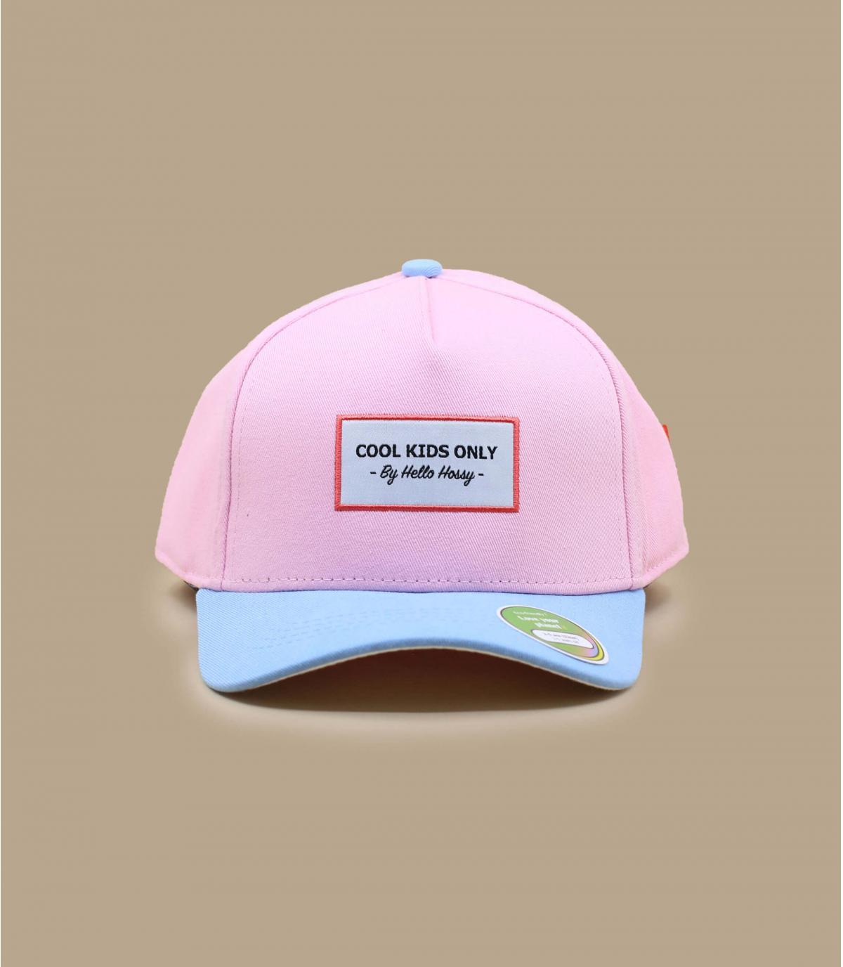 casquette curve enfant rose