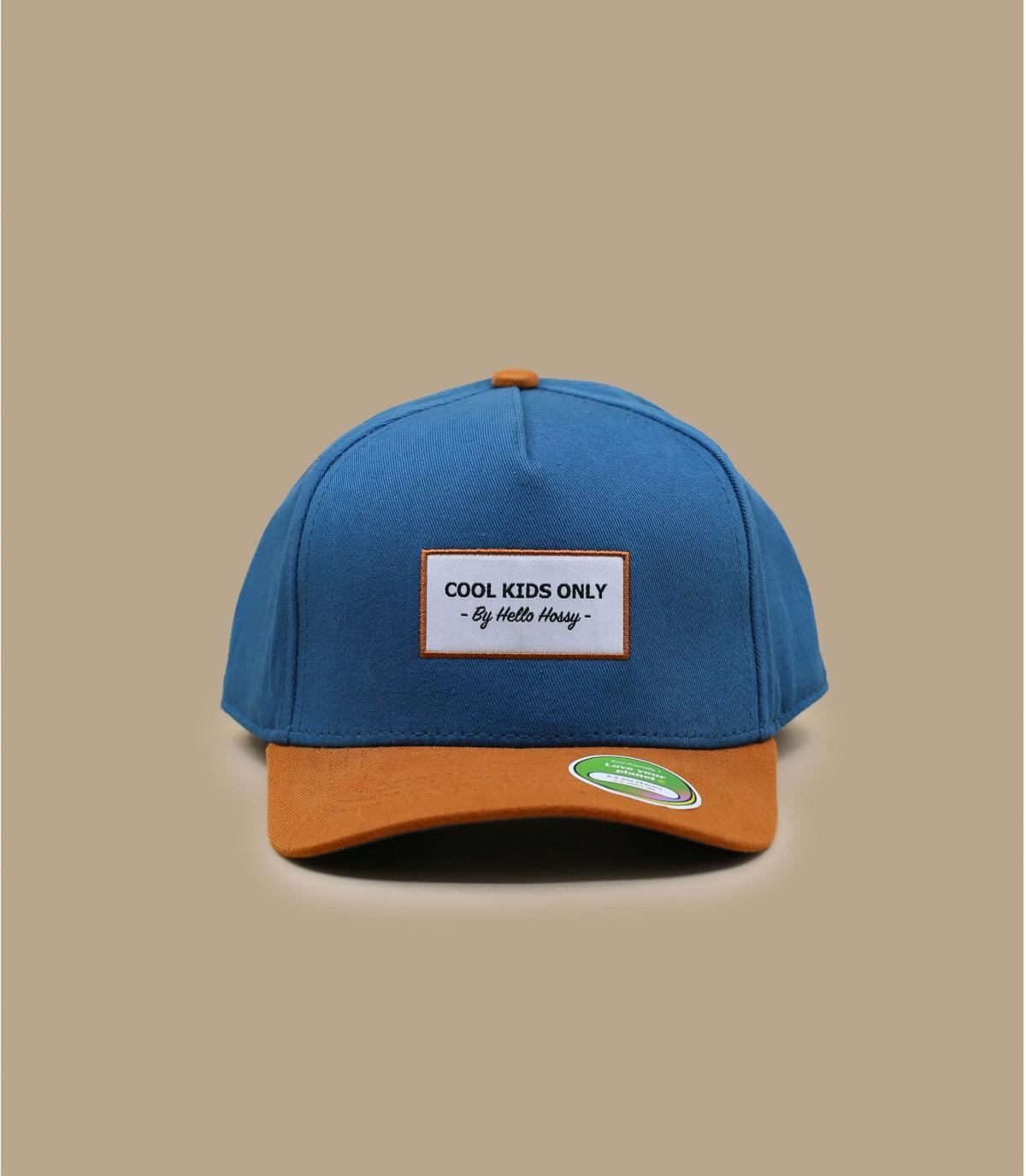 casquette curve enfant bleu