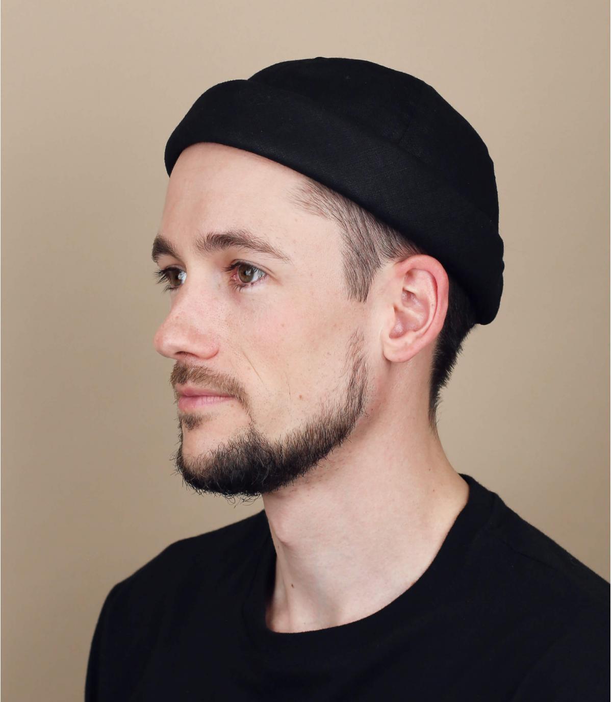 bonnet docker lin noir