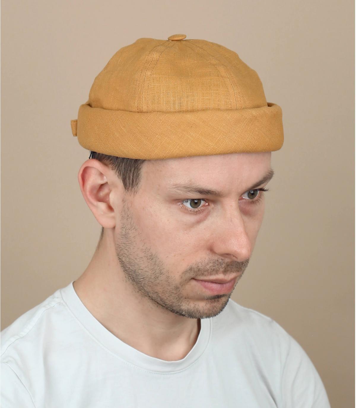 bonnet docker lin moutarde