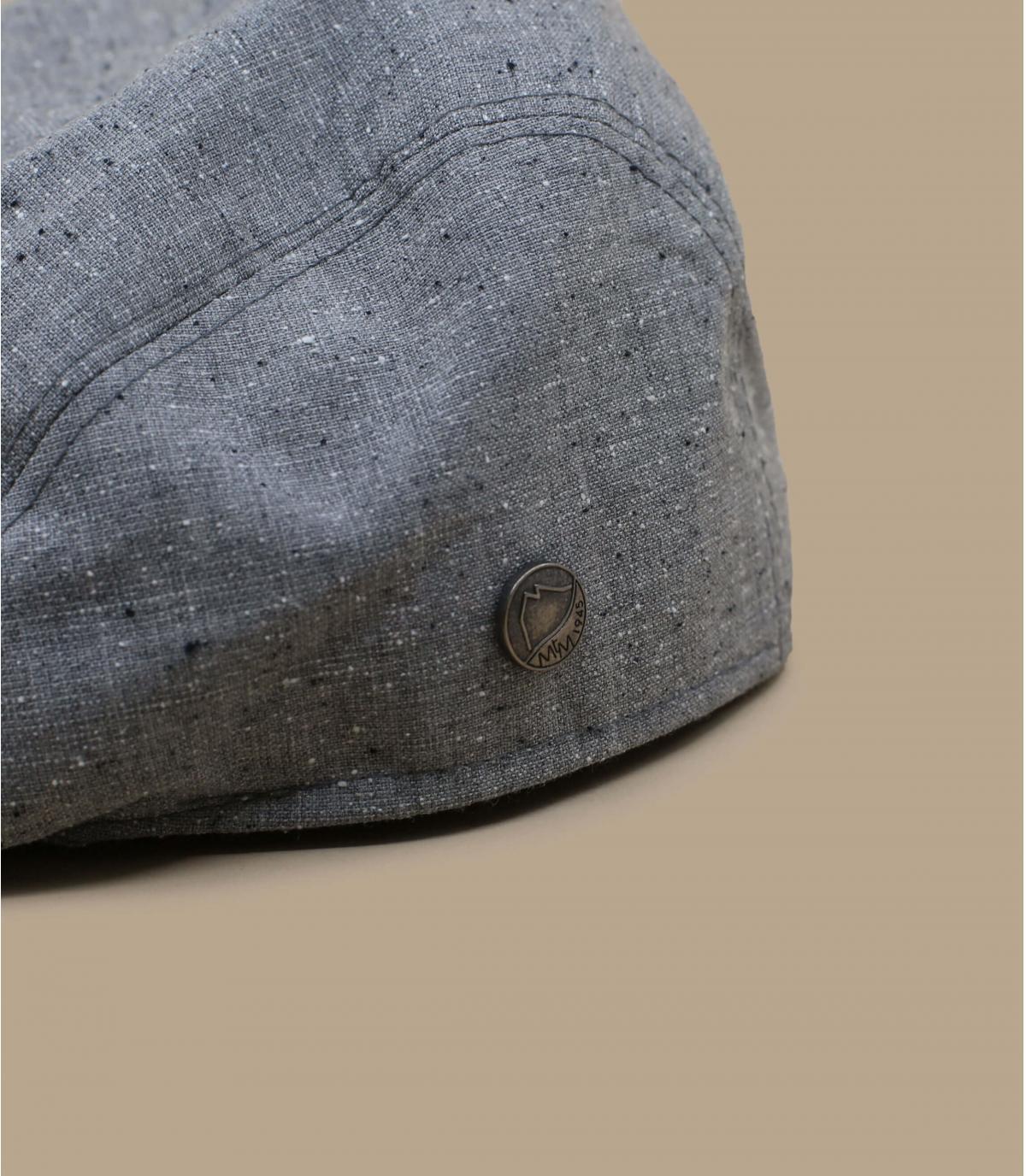 béret laine soie gris