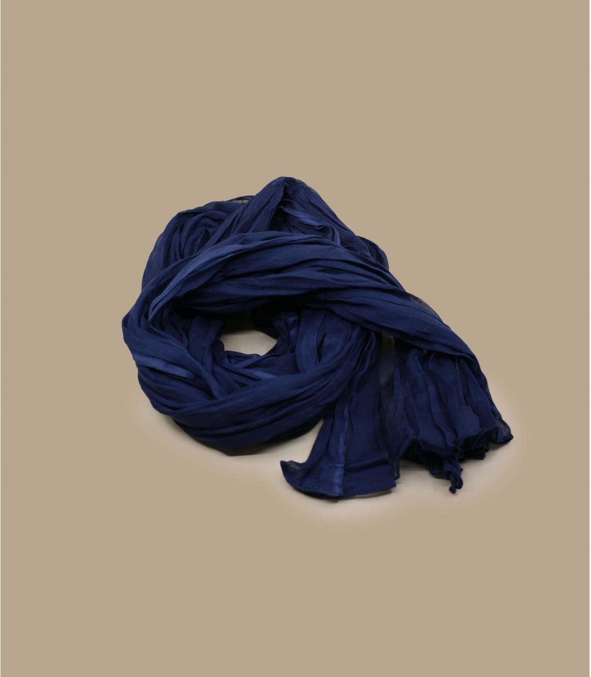 foulard bleu marine