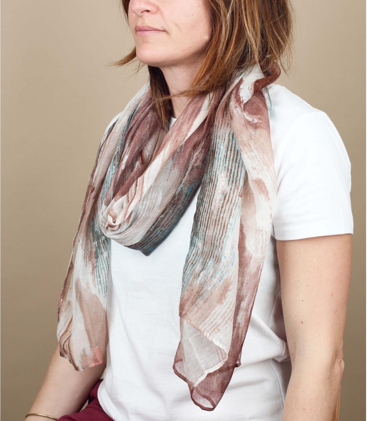 foulard beige
