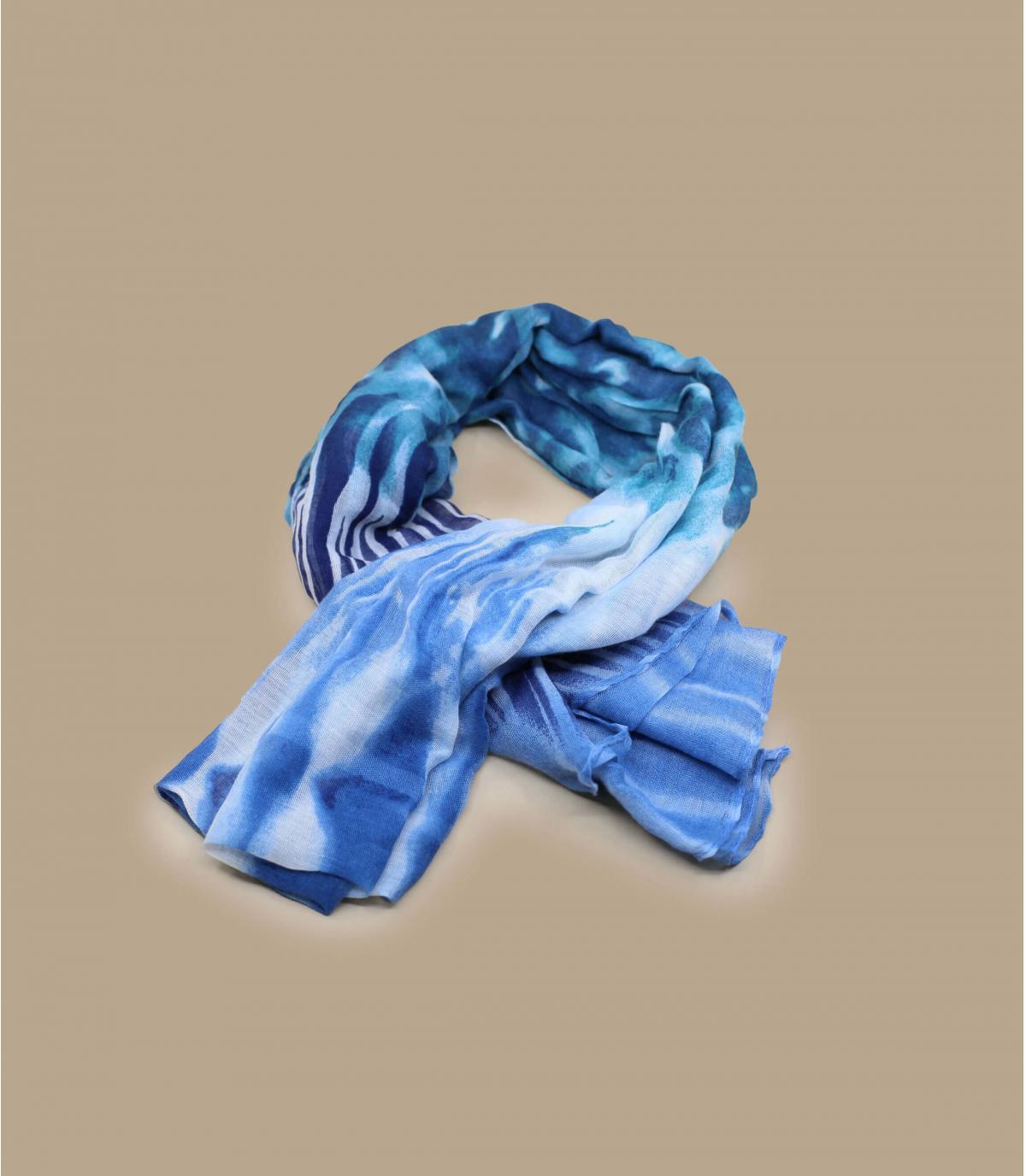 foulard bleu