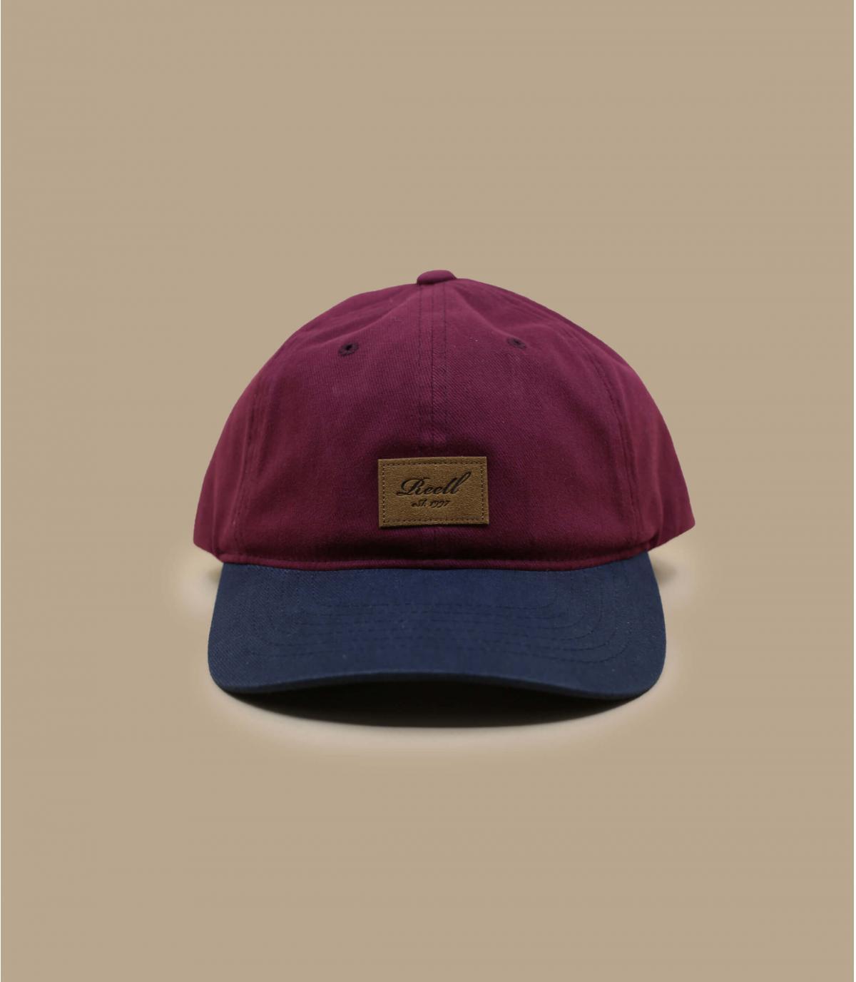 casquette bordeaux bleu Reell