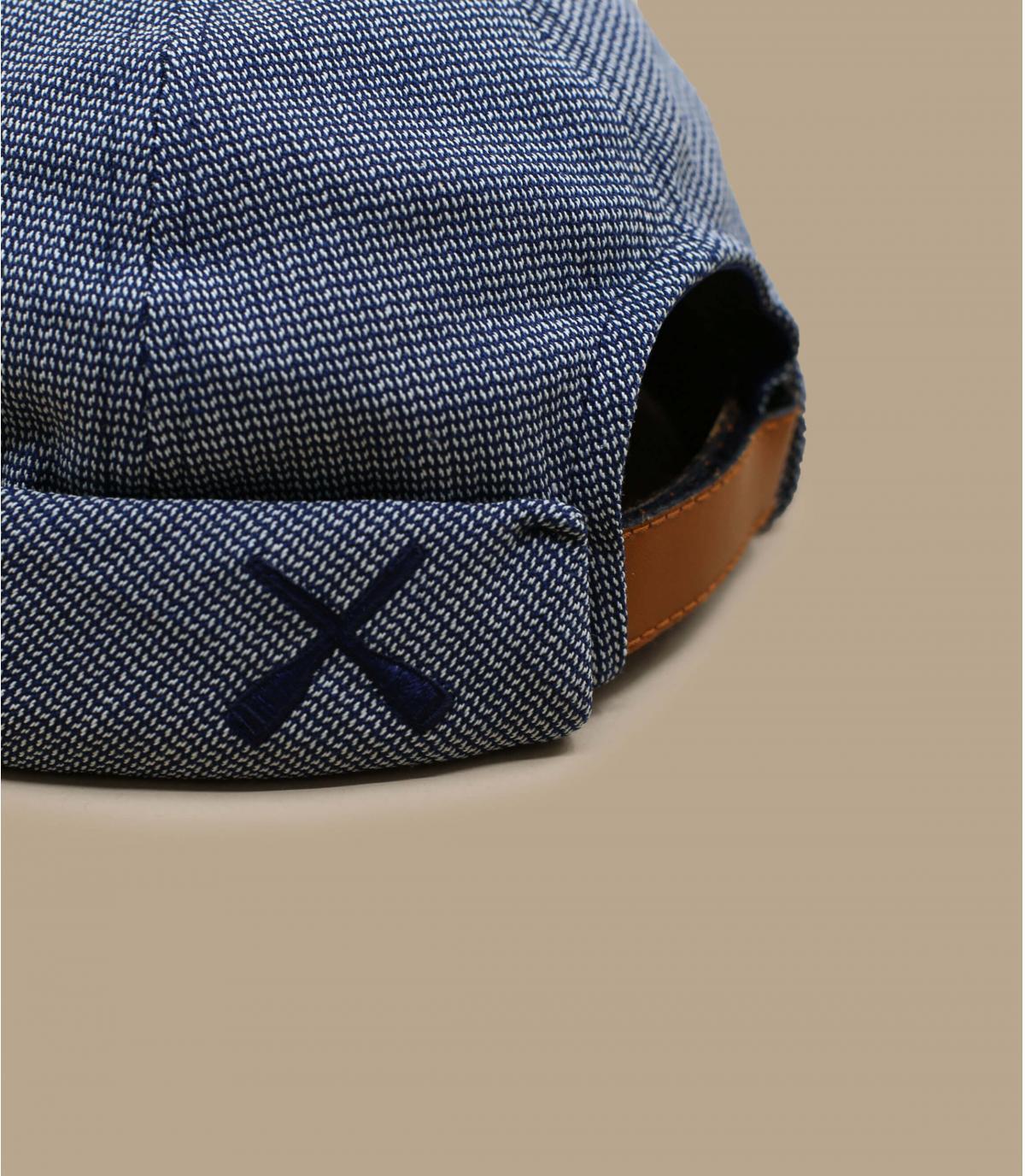 Détails Miki Workwear blue herringbone - image 3