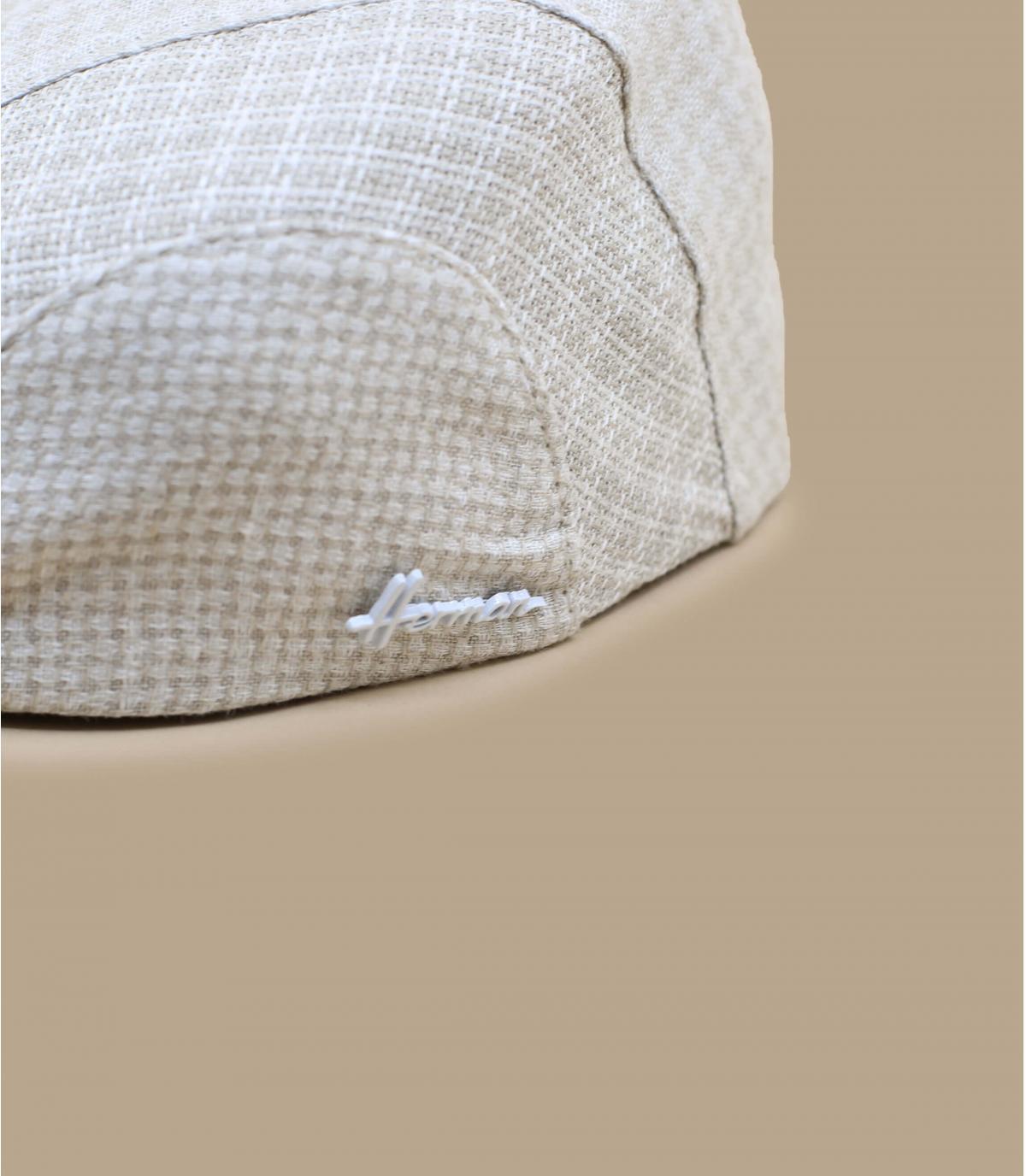 béret coton bio beige