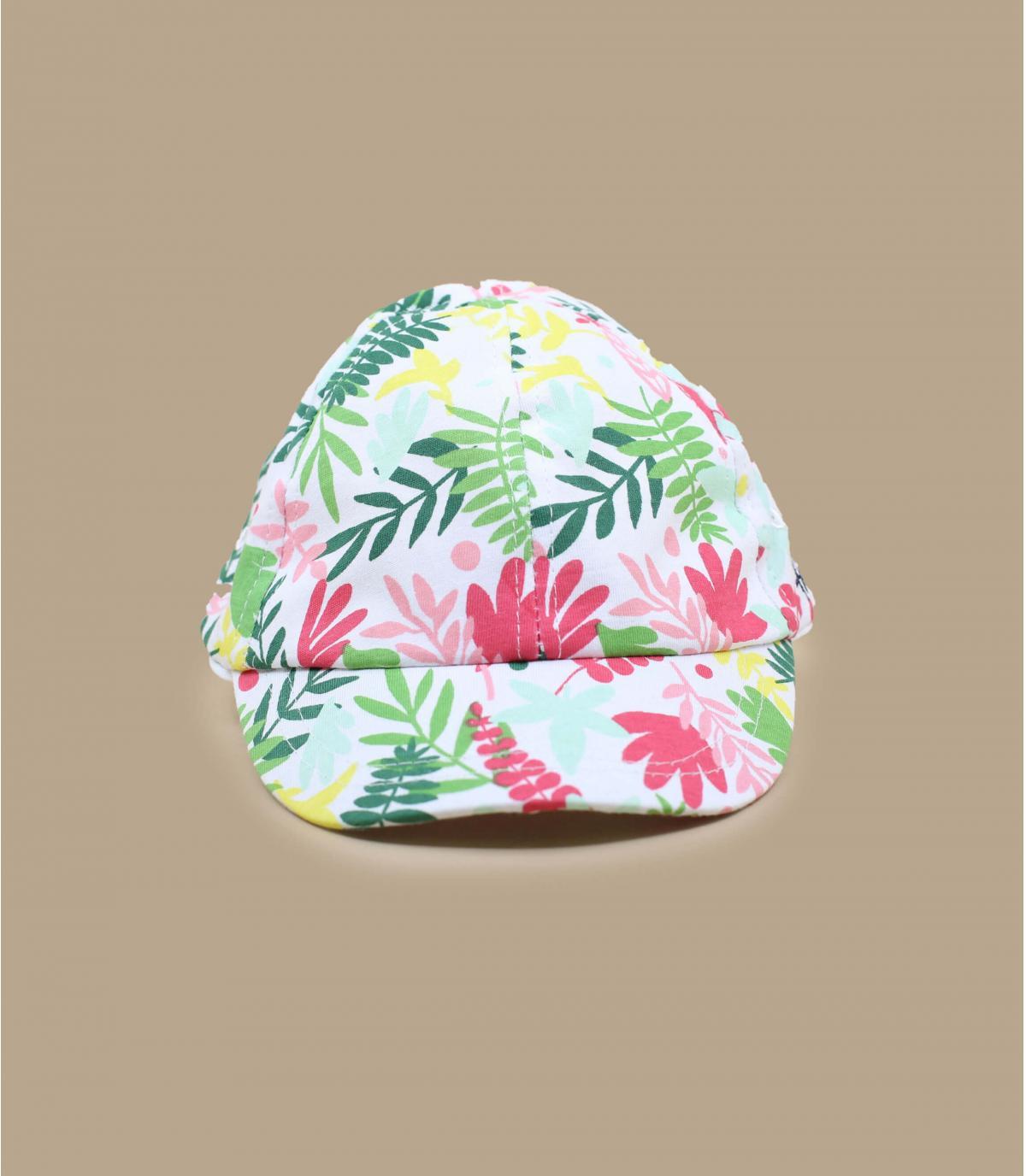 casquette enfant fleurs