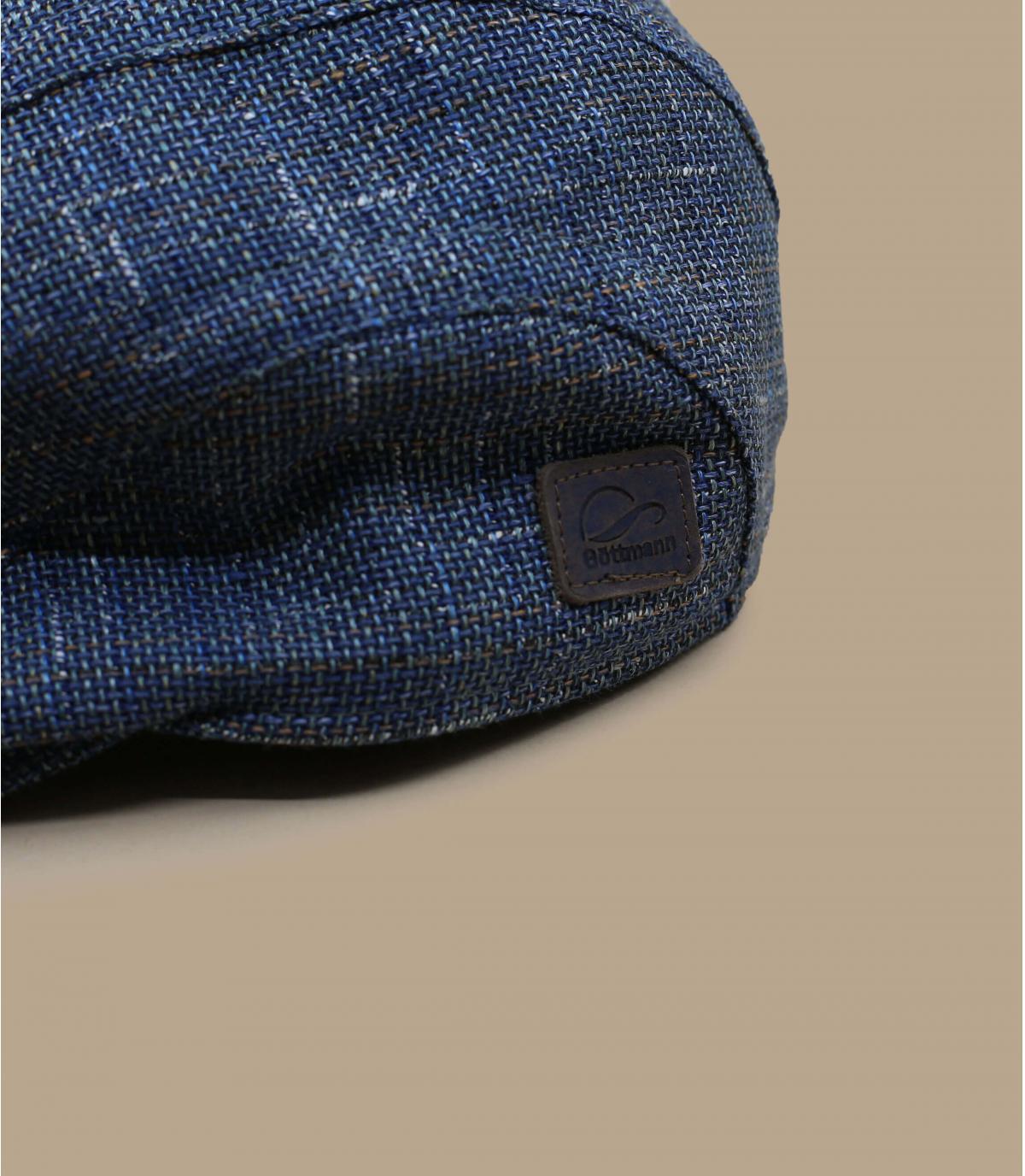 béret bleu lin Göttmann