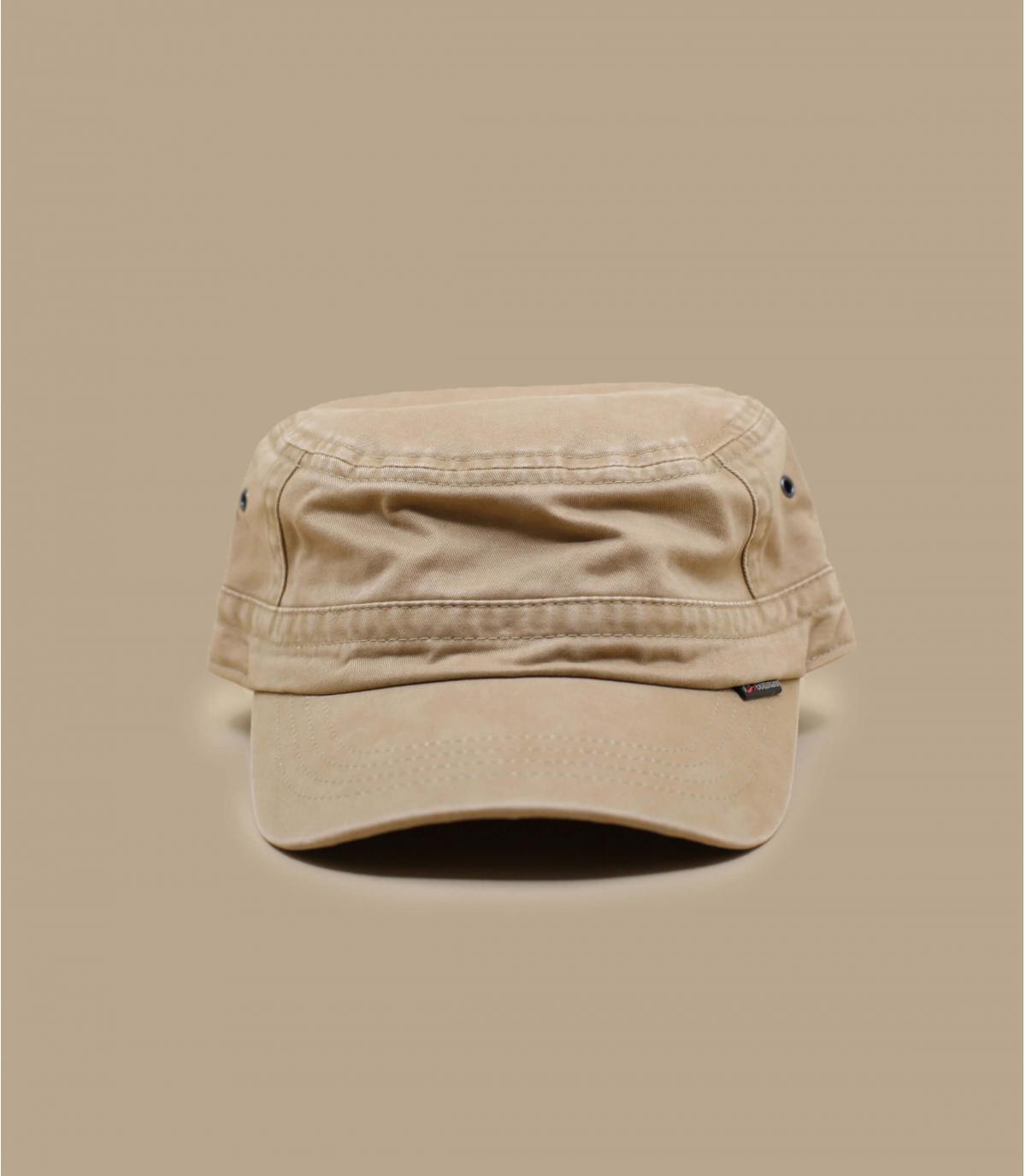 casquette militaire beige