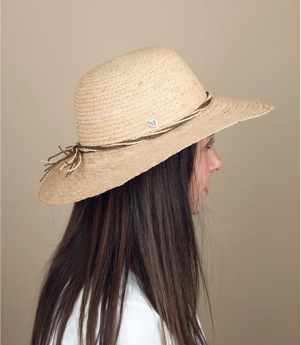 chapeau paille pliable