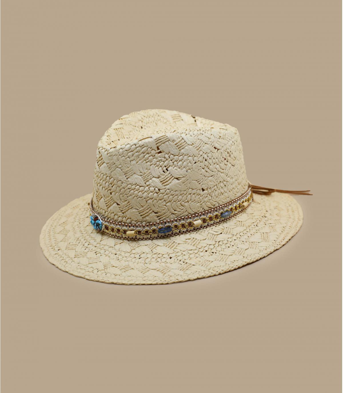 chapeau paille fantaisie