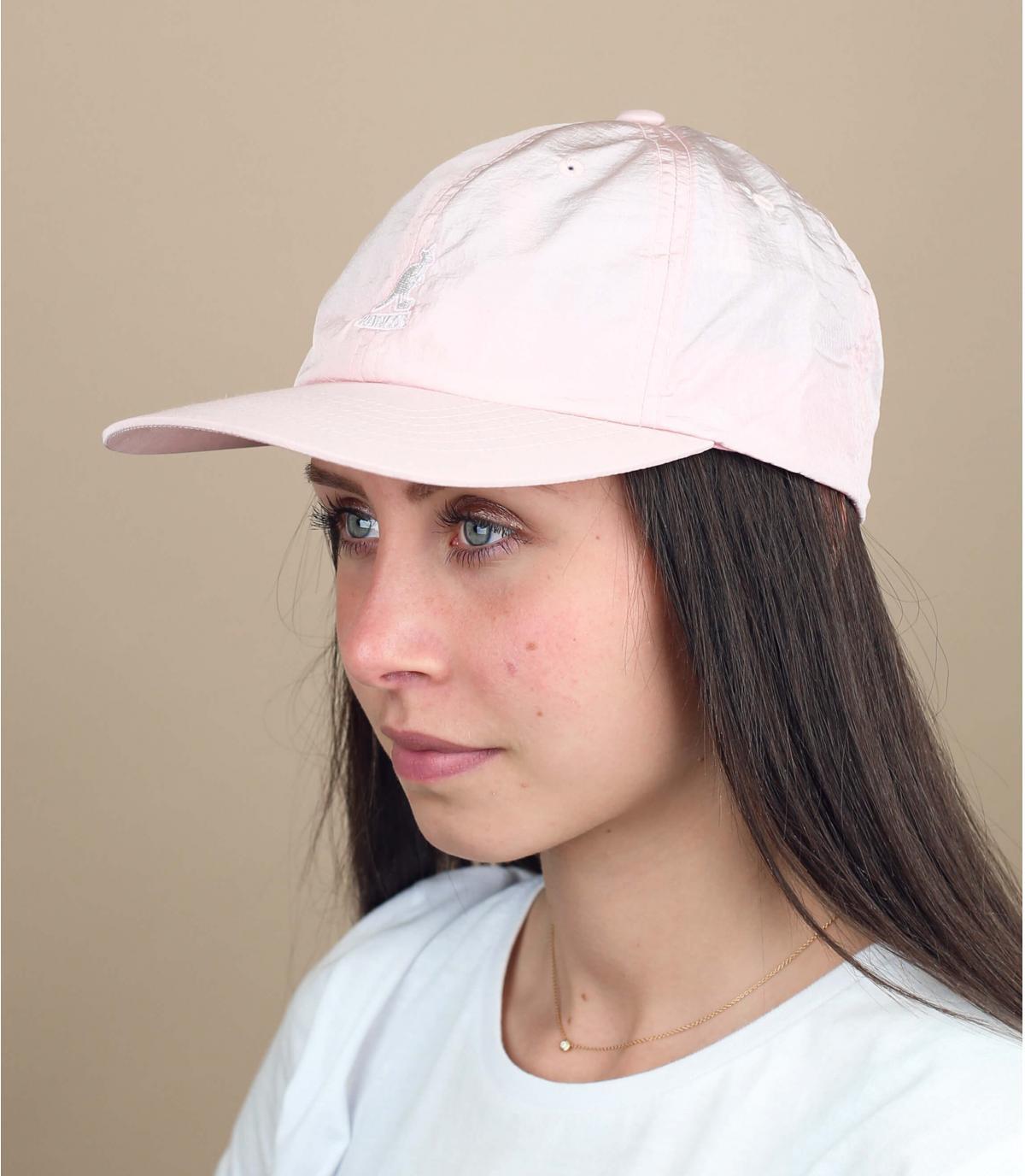 casquette déperlante rose Kangol