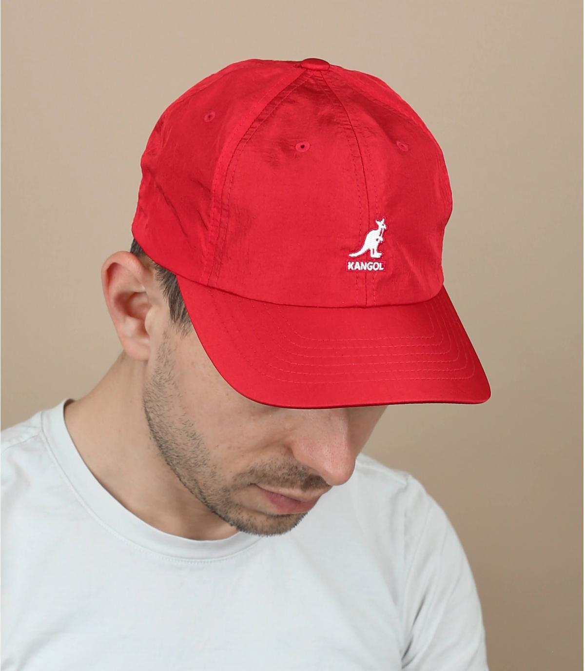 casquette nylon rouge Kangol