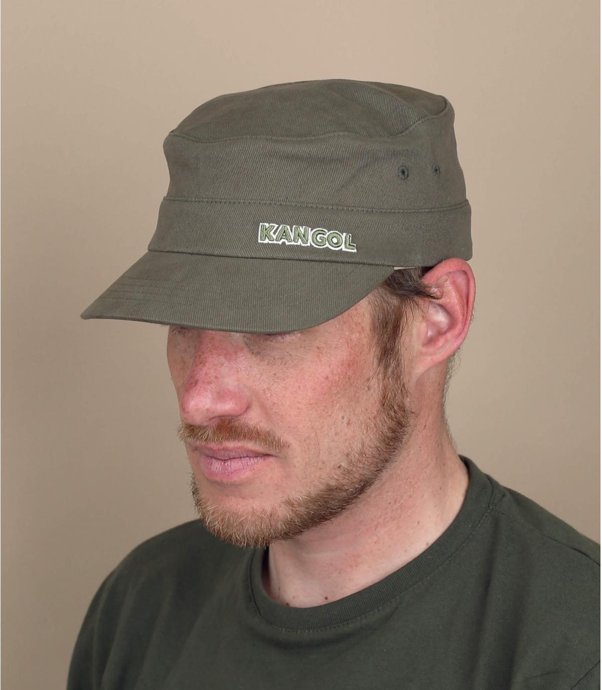 casquette militaire vert Kangol